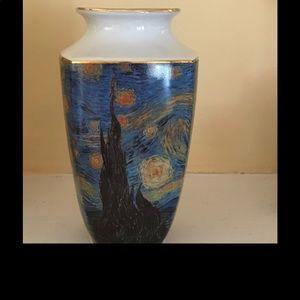 Porcelain Vincent Van Gogh Starry Night Vase